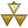 Three gold triangles in triangular form