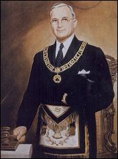 Portrait of Harry Truman as Grand Master of Missouri