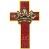 Crimson cross and crown