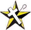 Star, white cross and shepard's crook