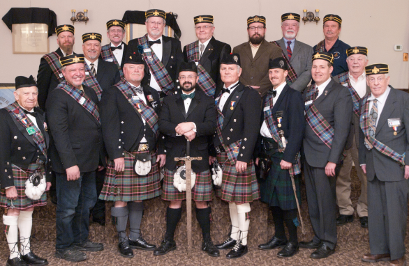 A group photo of the 2016 Knights of Saint Andrew